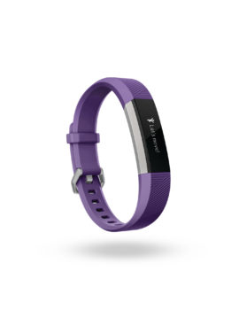 Product render of Fitbit Ace in 3 quarter view in power purple color showing Let